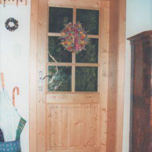 Holz glas Tür